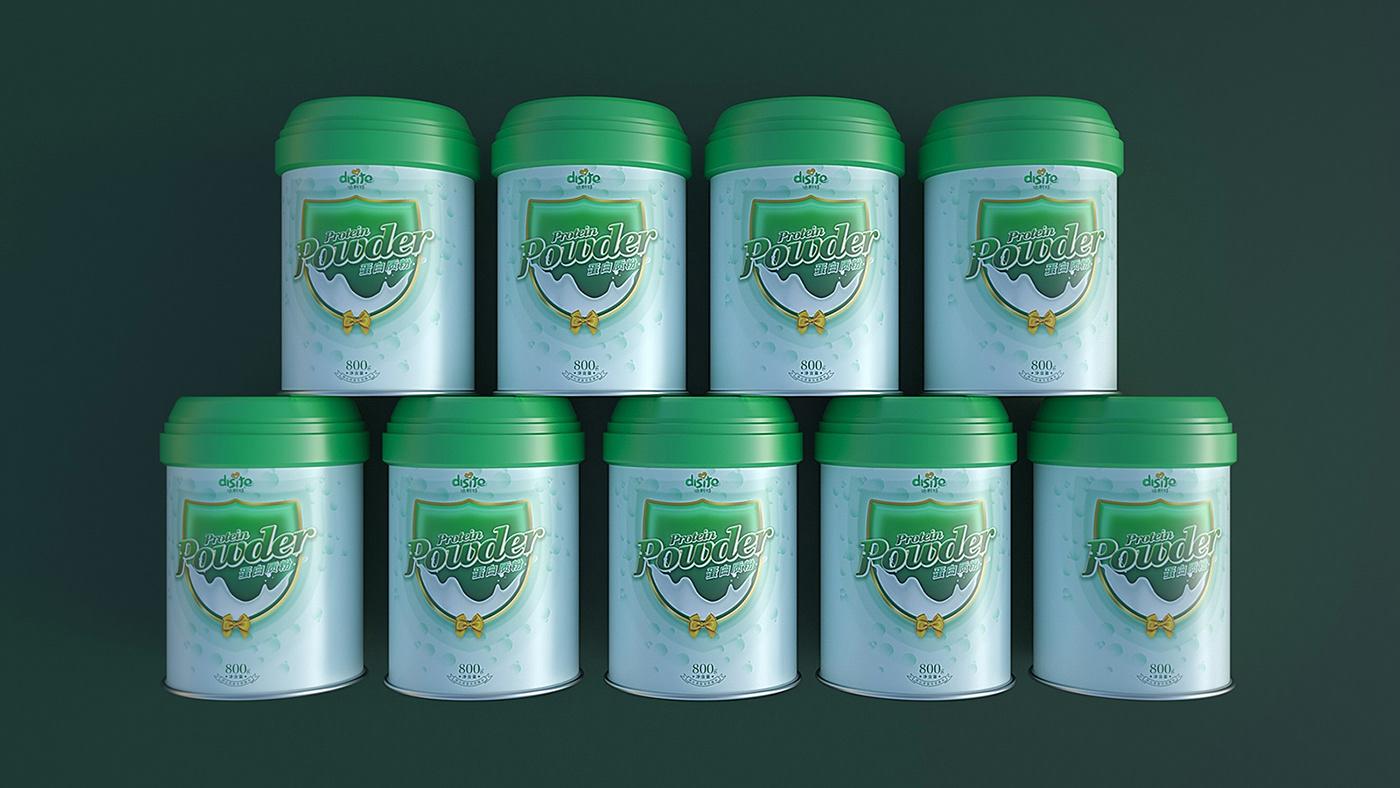 奶粉包装 包装设计 食品包装 c4d 品牌设计 梵顿设计 package design  Milk powder design design milk powder