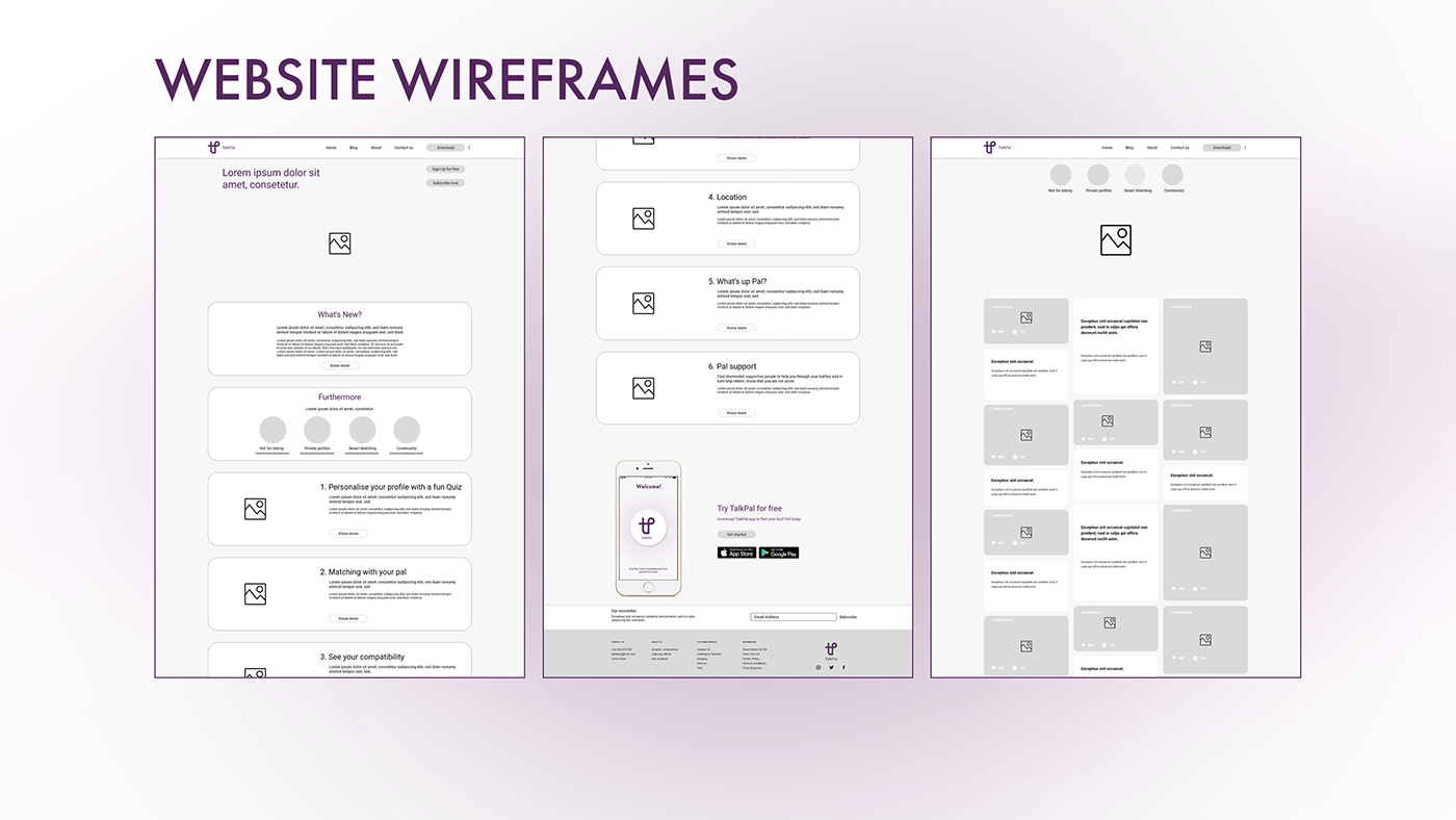 app Website UI ux uiux mental health information architecture  Adobe XD wireframes