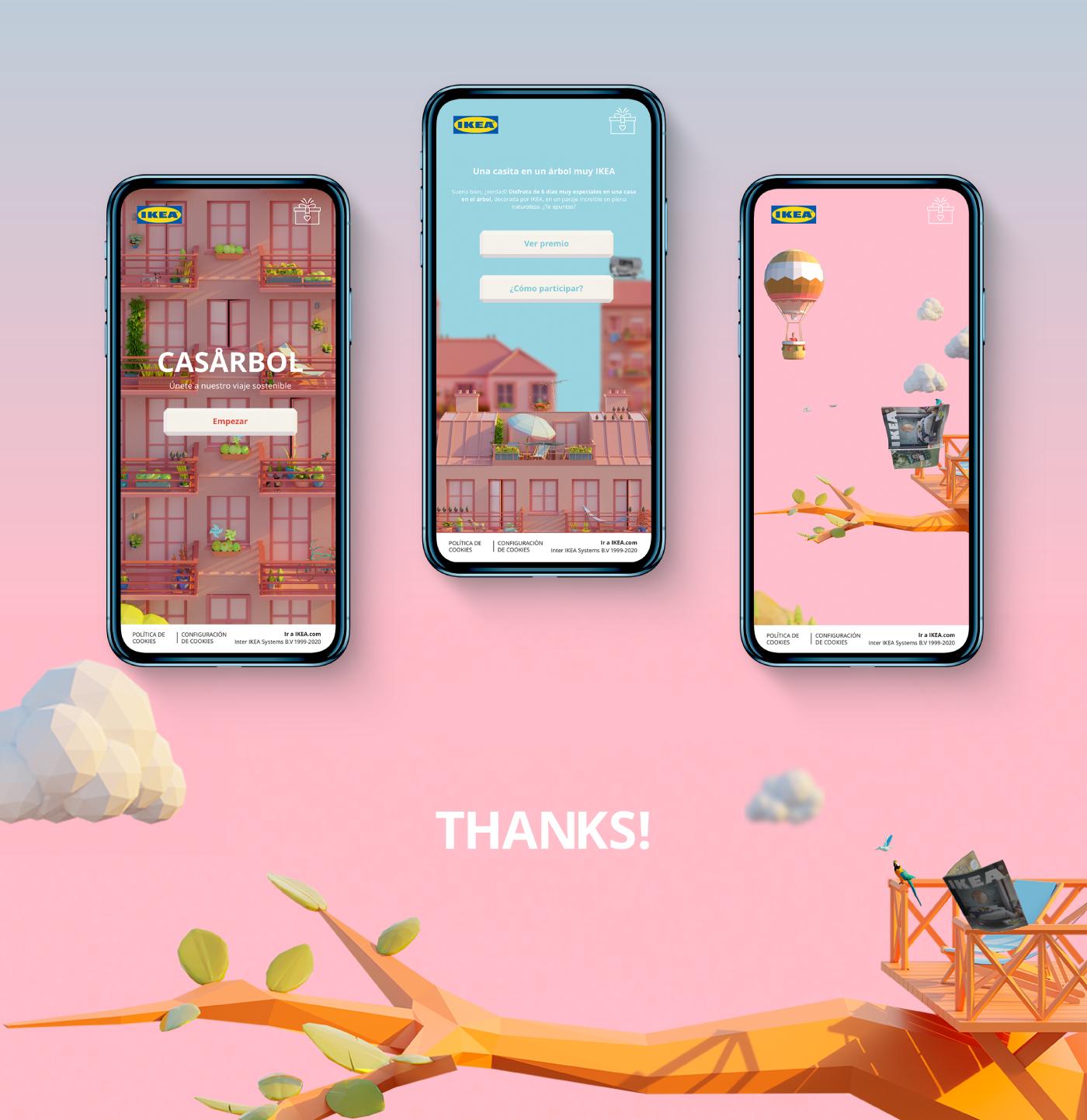 Advertising  Catalogue game ikea interactive lowpoly McCann mobile Vue.js webgl