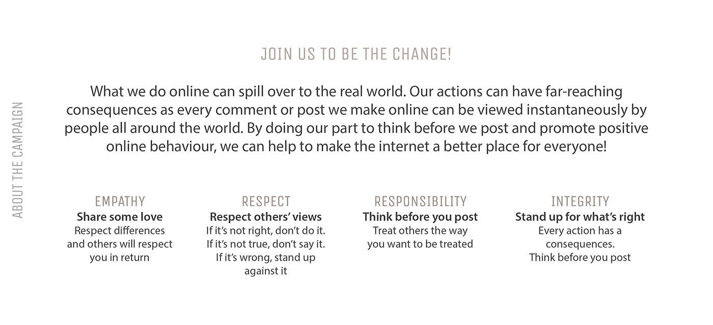 tvc campaign story Internet cyberbully Cyber Wellness discerning excessive screen time mobile digital