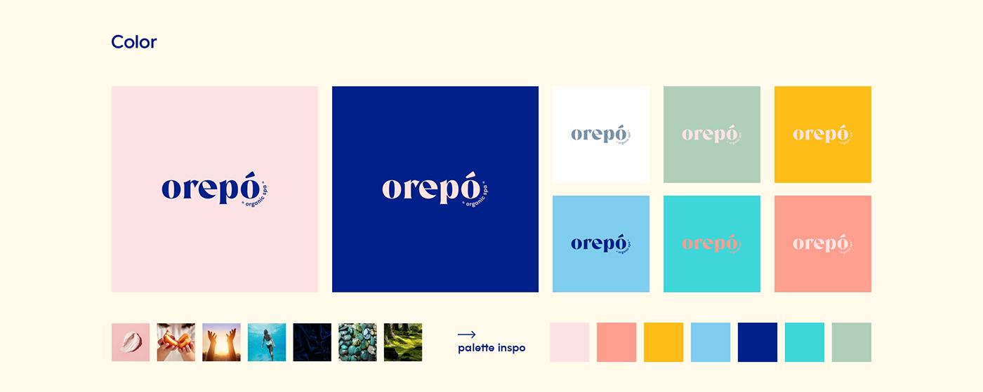 beauty brand digital instagram marca organic pastel social media Spa wellbeing