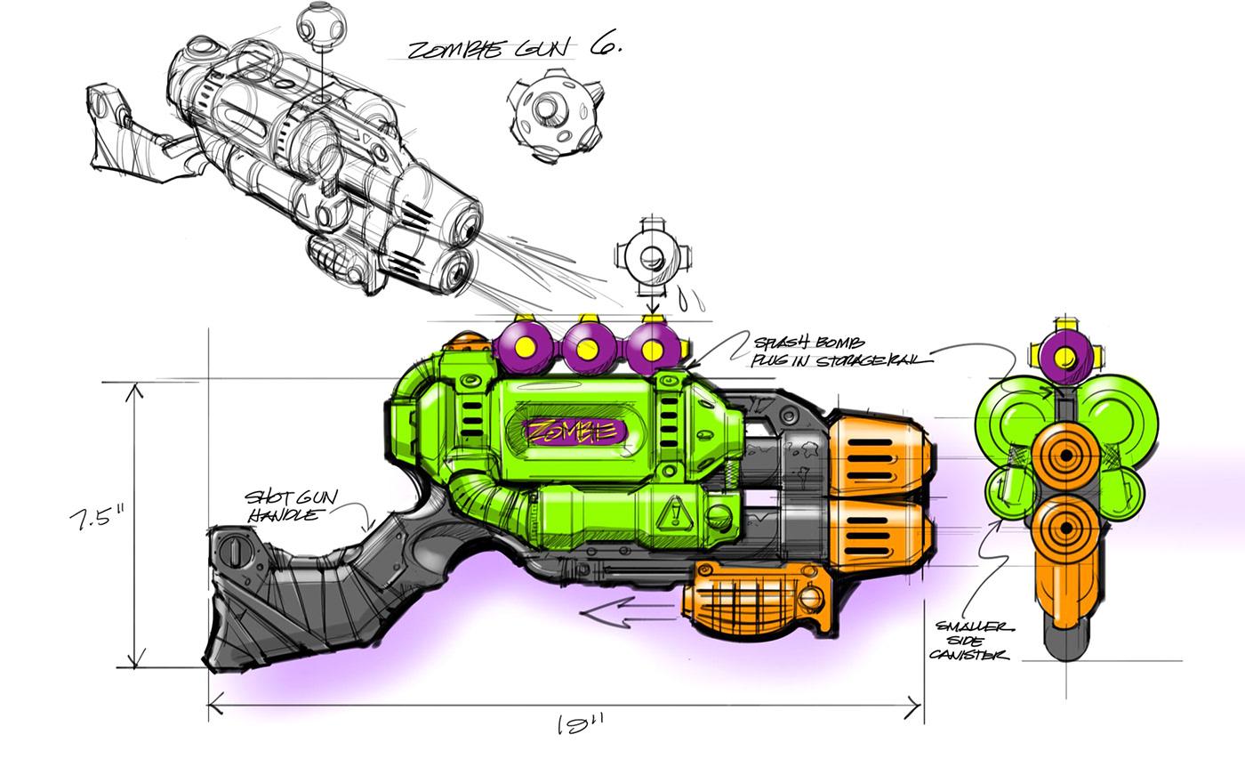 banzai Blasters nerf nerf nitro sketches Squirt waterguns