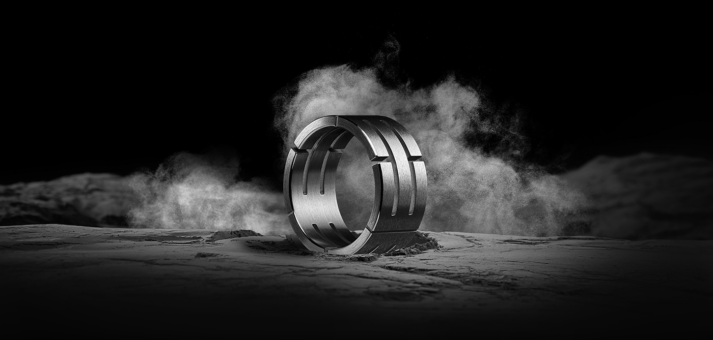 jewelry jewel brand black Monochromatic ring male