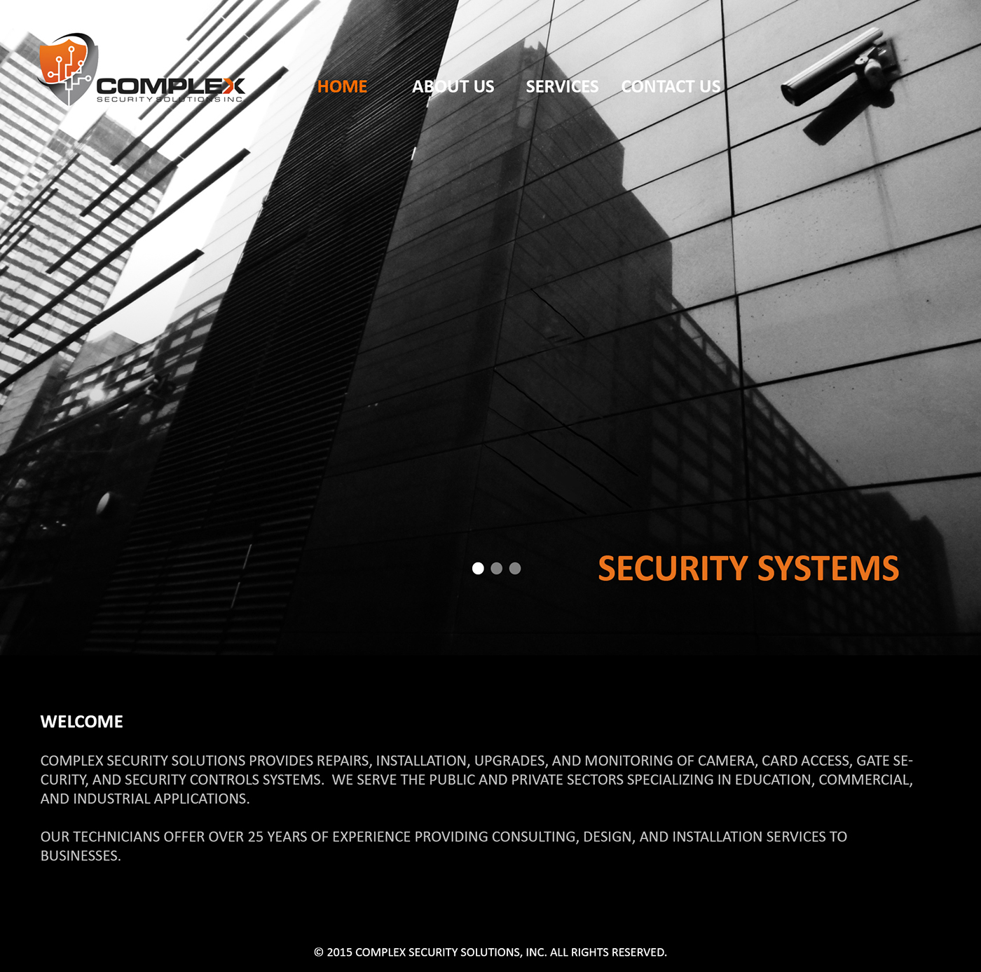 Complex Security Solutions inc. Web design