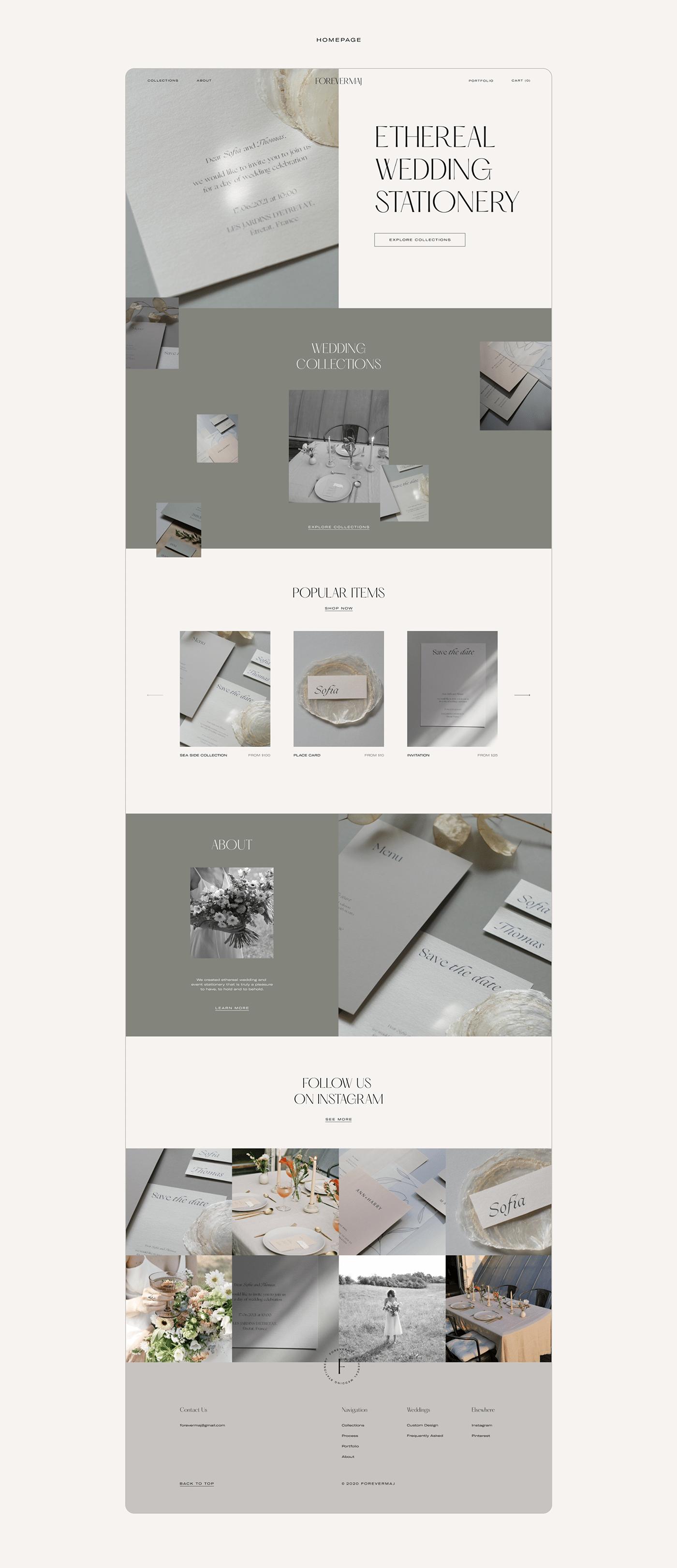e-commerce e-shop Website wedding Stationery
