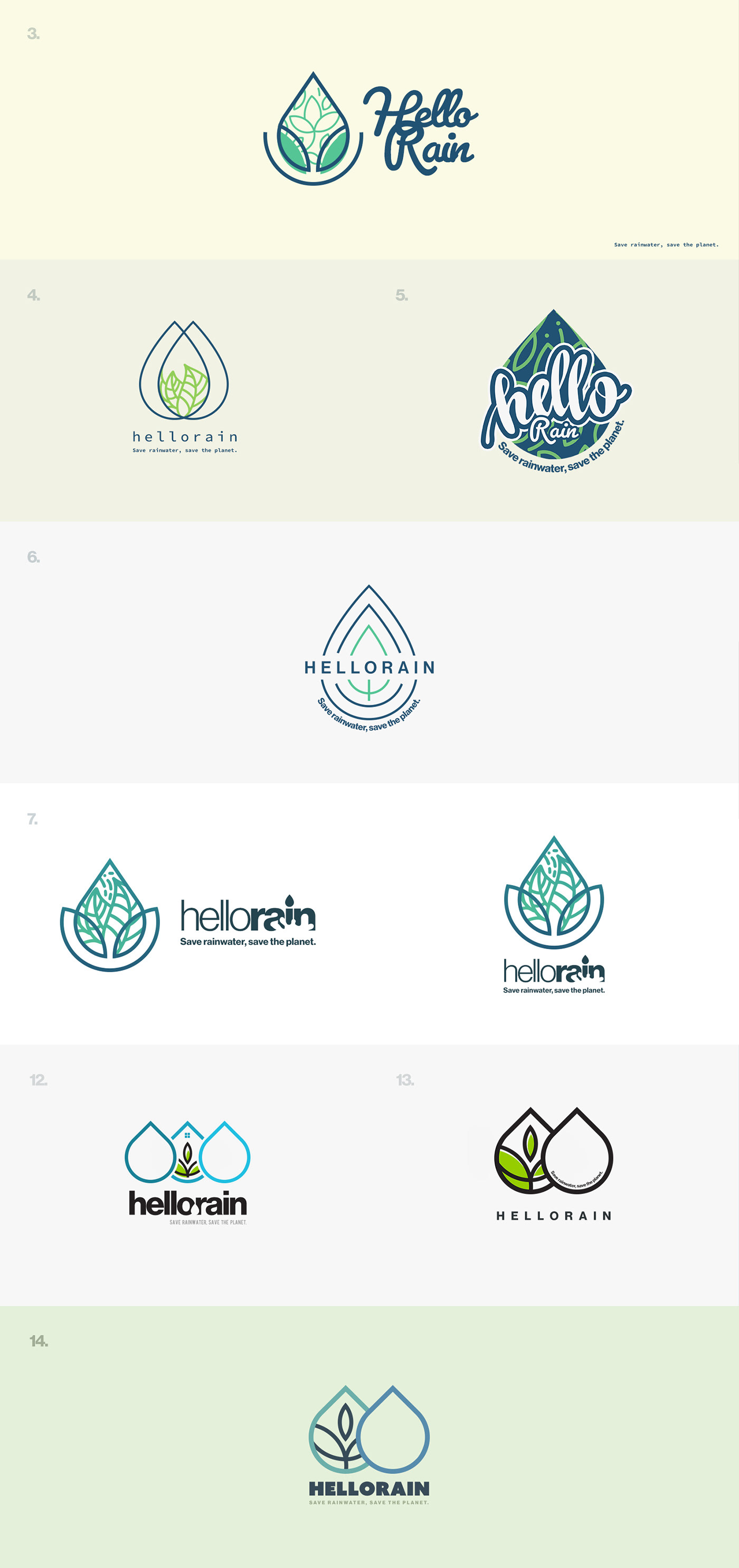 design hello logo Logo Design rain water Web Design