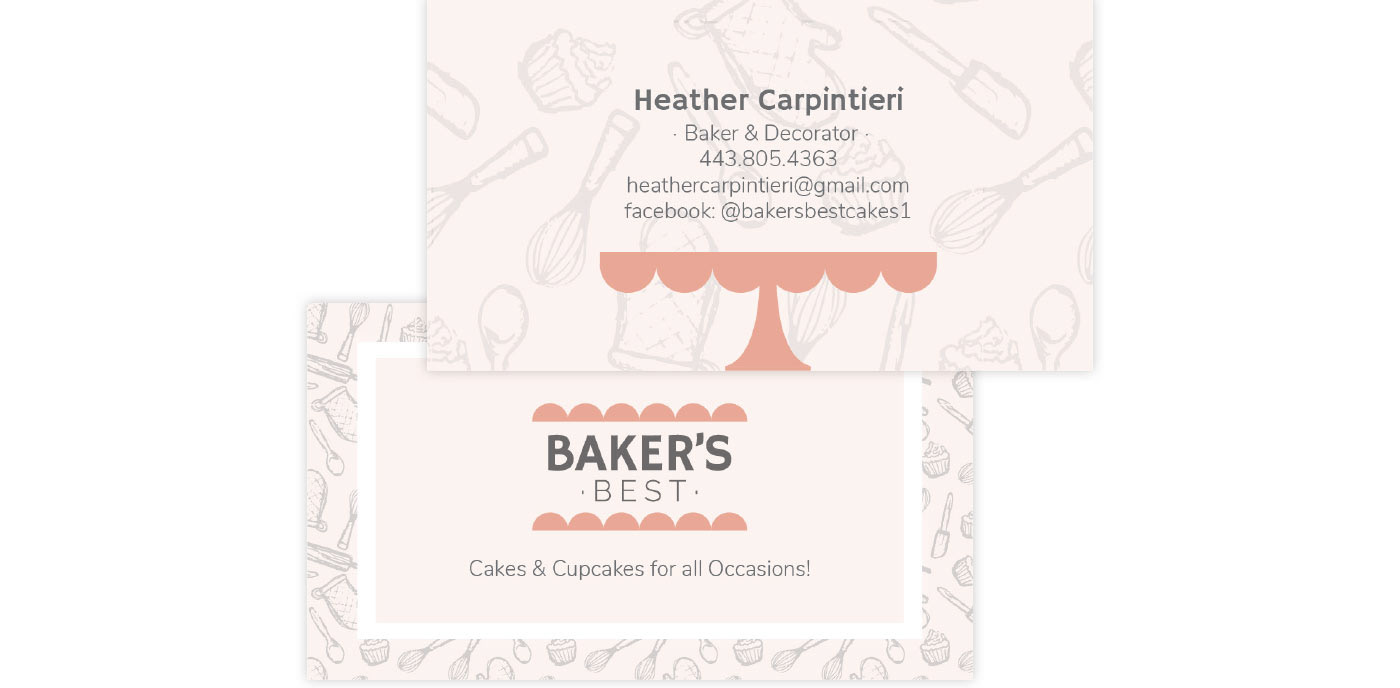 Website Responsive bakery page not found branding  hand-drawn pattern social media Business Cards menus