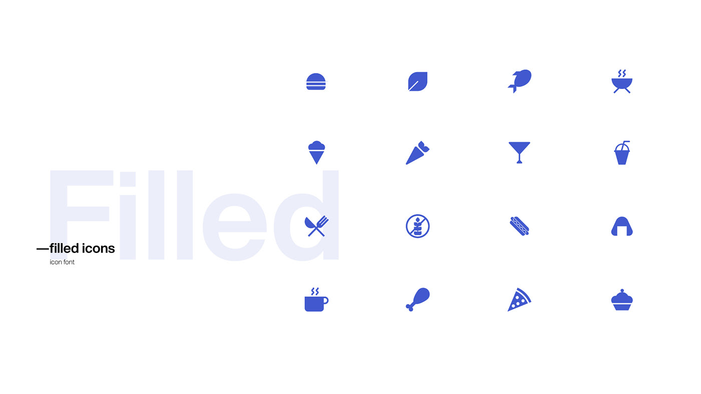 Animated icons download font free geometric icons Food  interaction kit vector