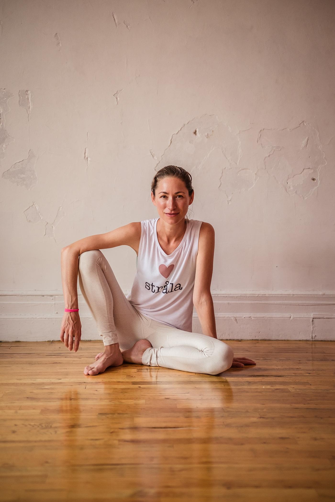 Photography  portrait magazine cover shoot Yoga Strala Yoga Natural Light fujifilm