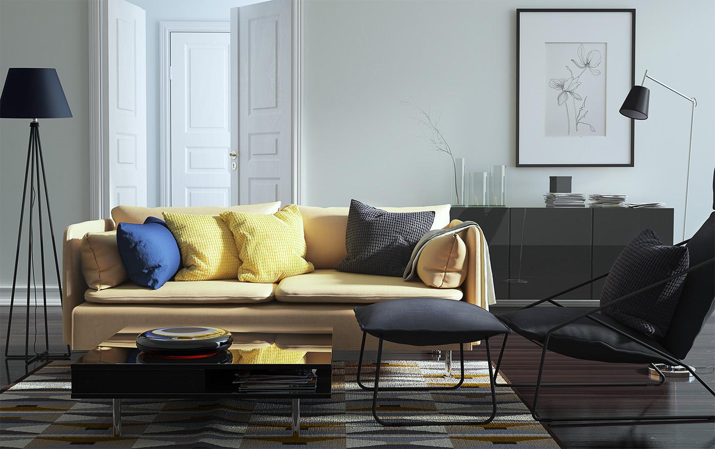 Interior Visualization 3D Visualization living room CGI