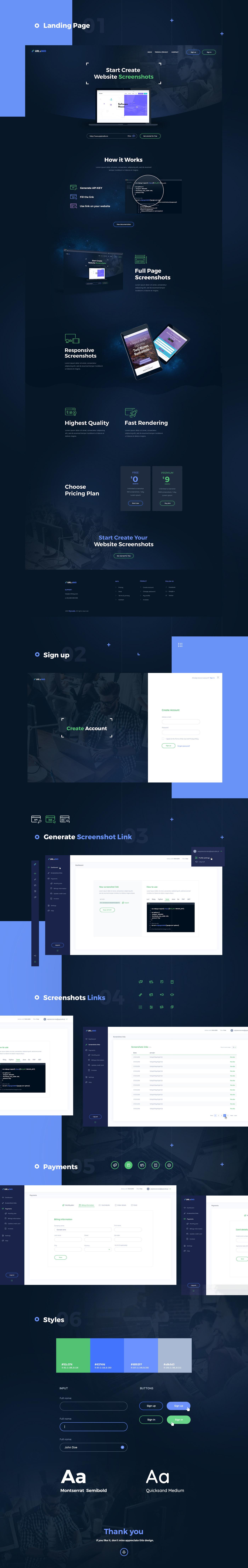 Website app dashboard Screenshots design dark
