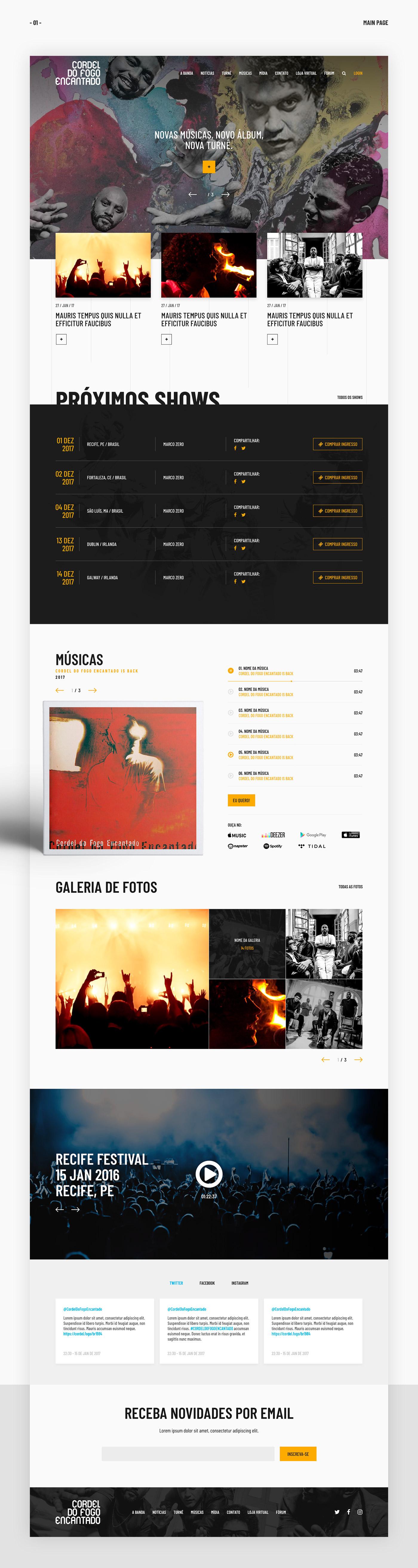 #UI #UX #UI/UX  #Design #web   #CordelDoFogoEncantado #band #music #AdobeXD