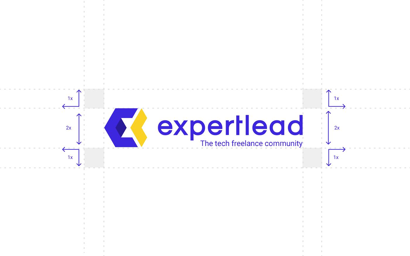banner brand corporate expertlead identity presentation visual design