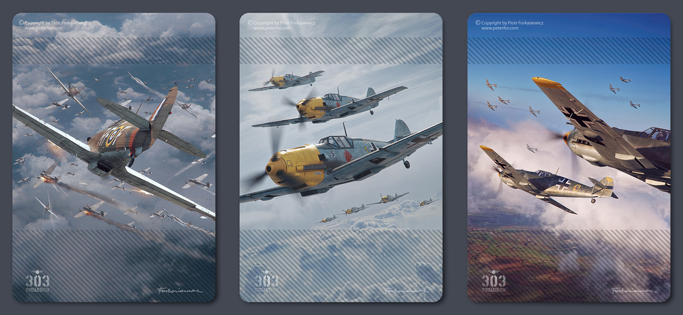 303 squadron battle of britain board game Luftwaffe Piotr Forkasiewicz polish raf