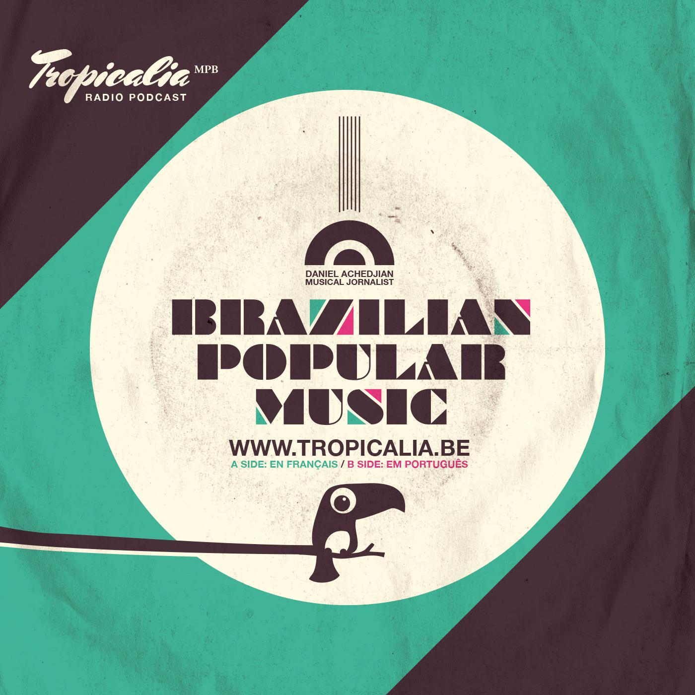 flyer Brazil typograhy