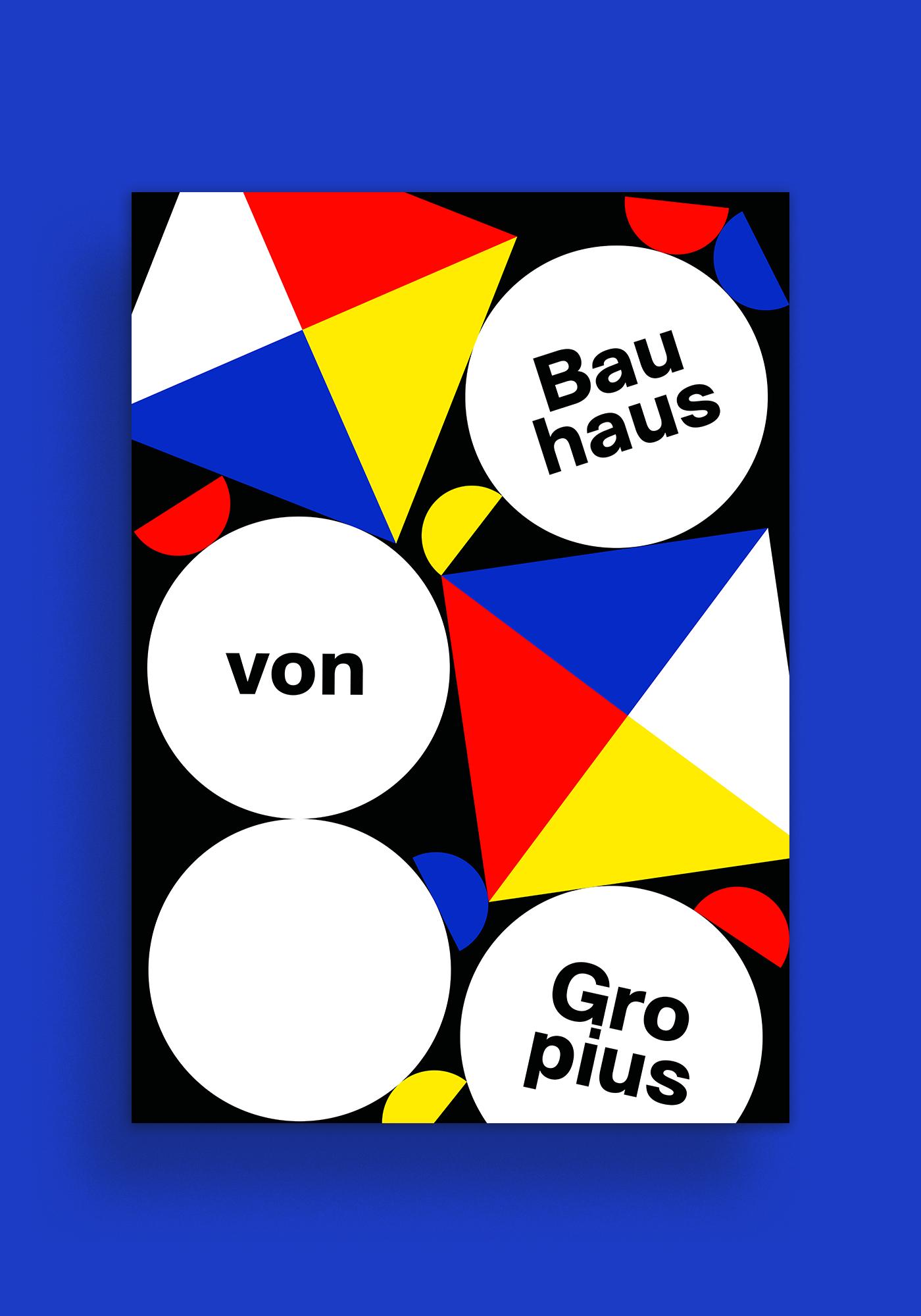 ILLUSTRATION  poster bauhaus schlemmer gropius