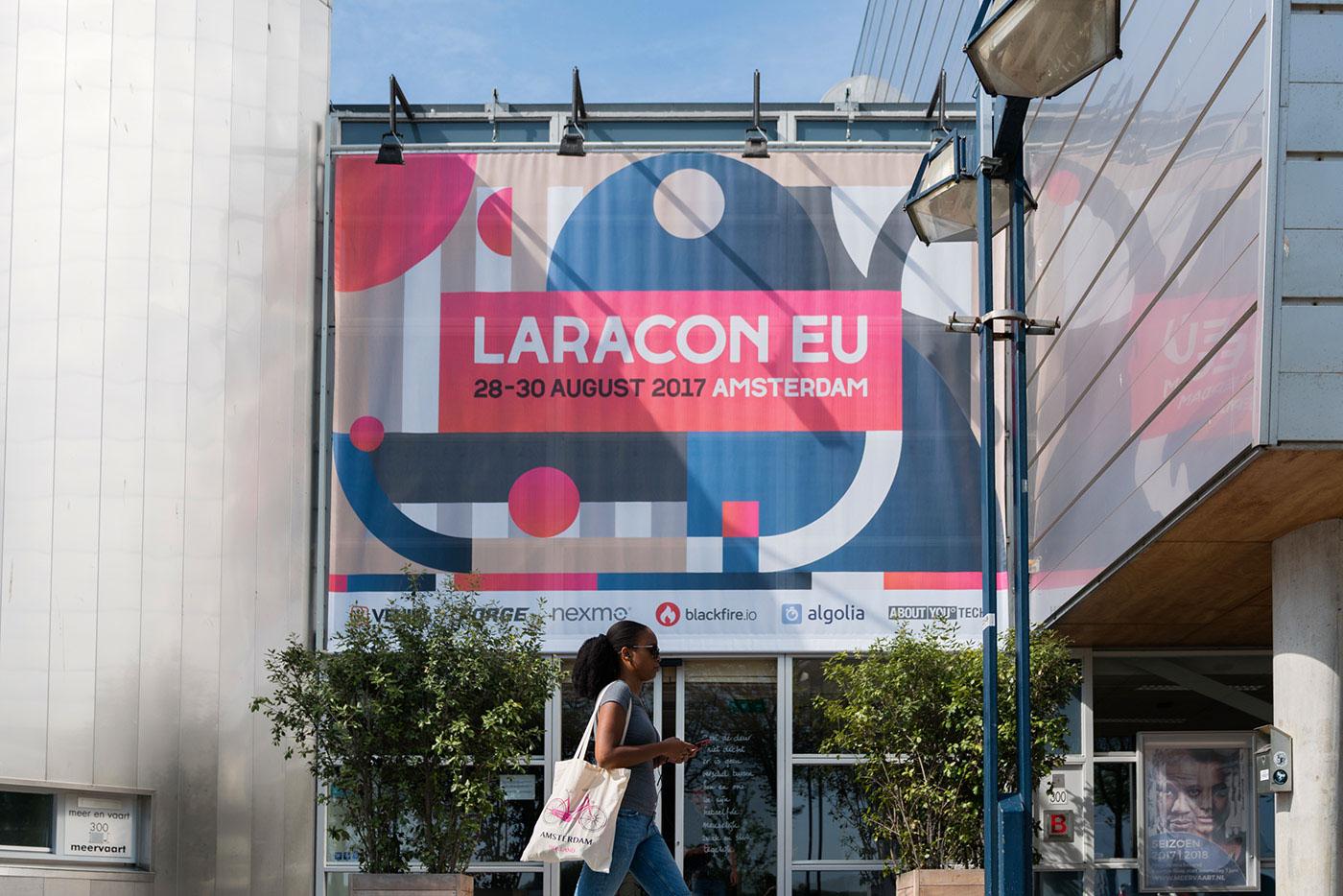 laravel Logotype campaign festival conference Colourful  developer software constructivism minimal