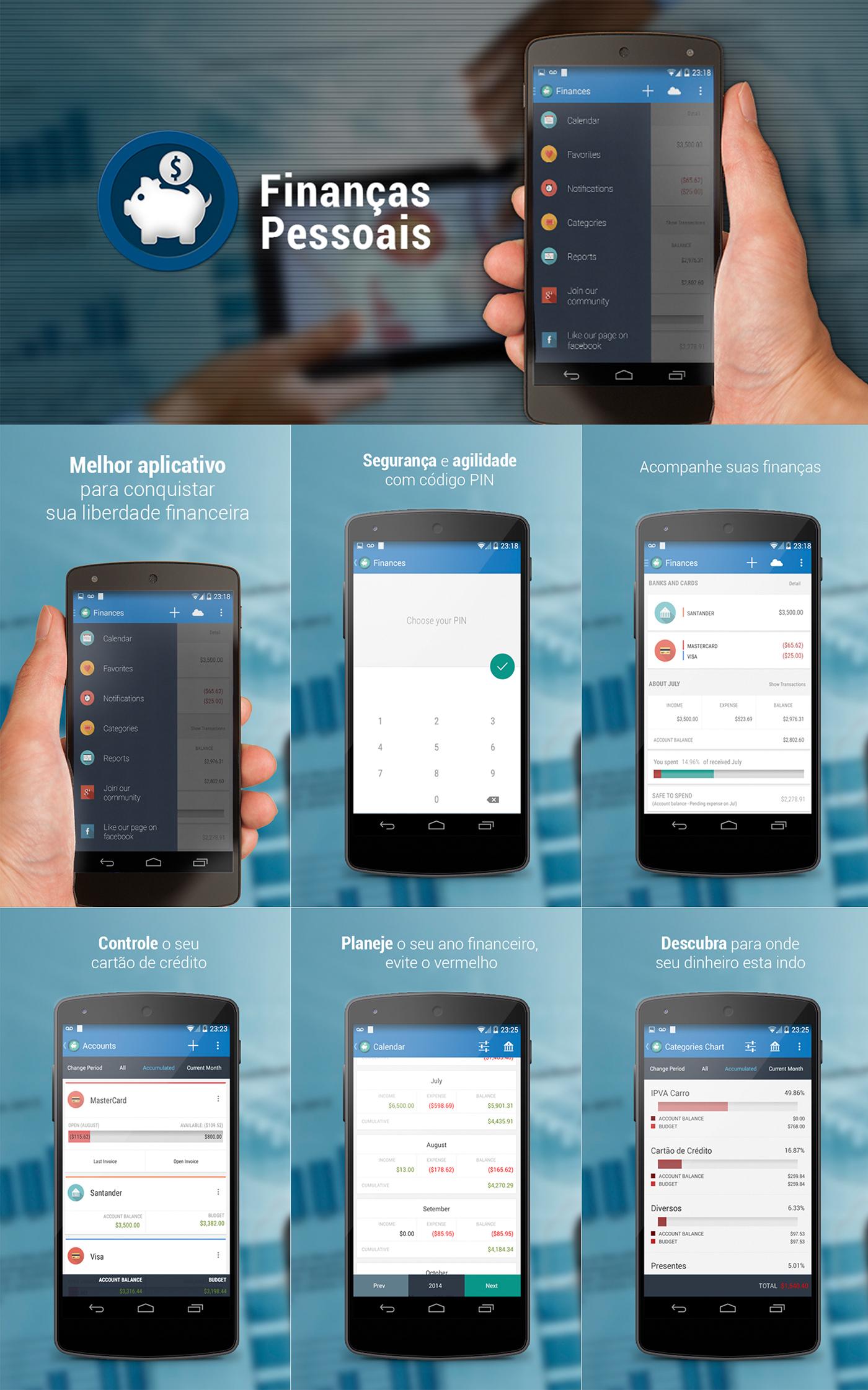aplicativo gerenciamento financeiro finanças app finances Interface brand Icon
