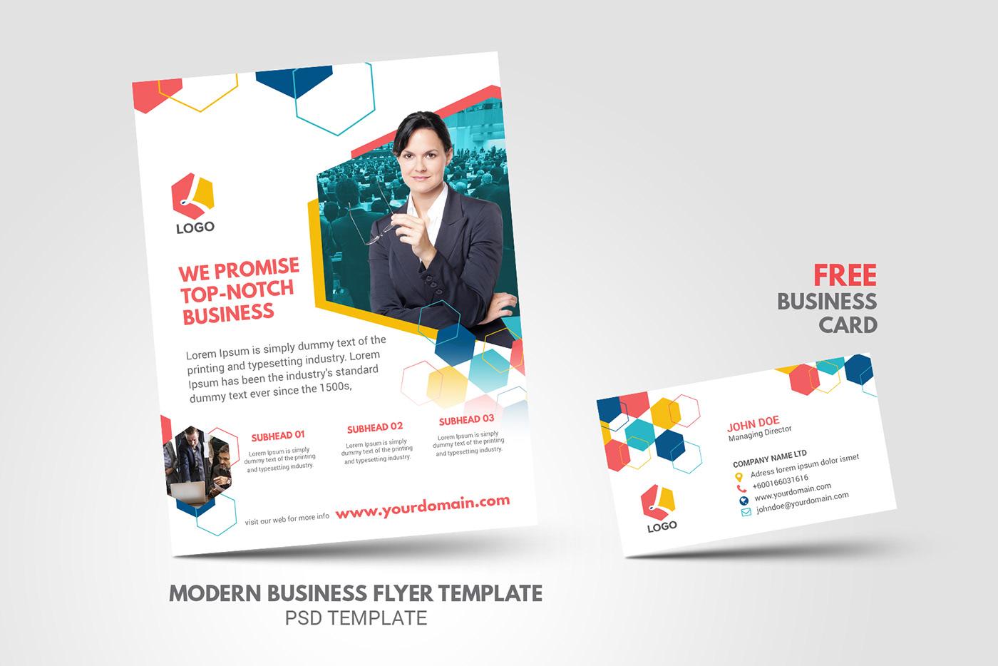 flyer business corporate profile agency brochure design modern creative trend