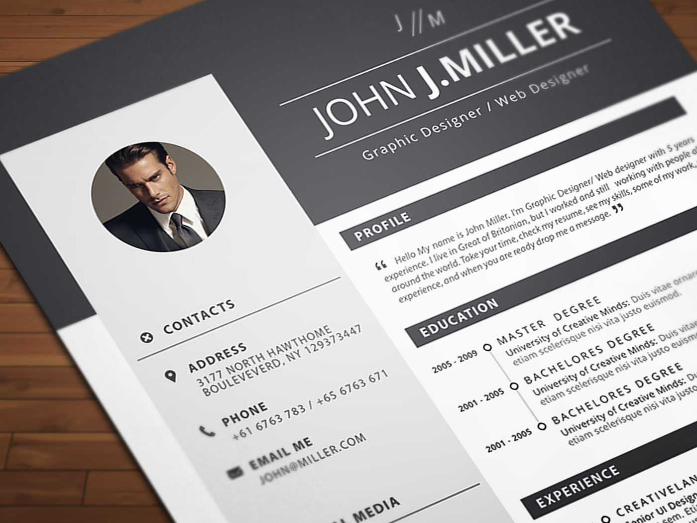 free ms word resume on behance