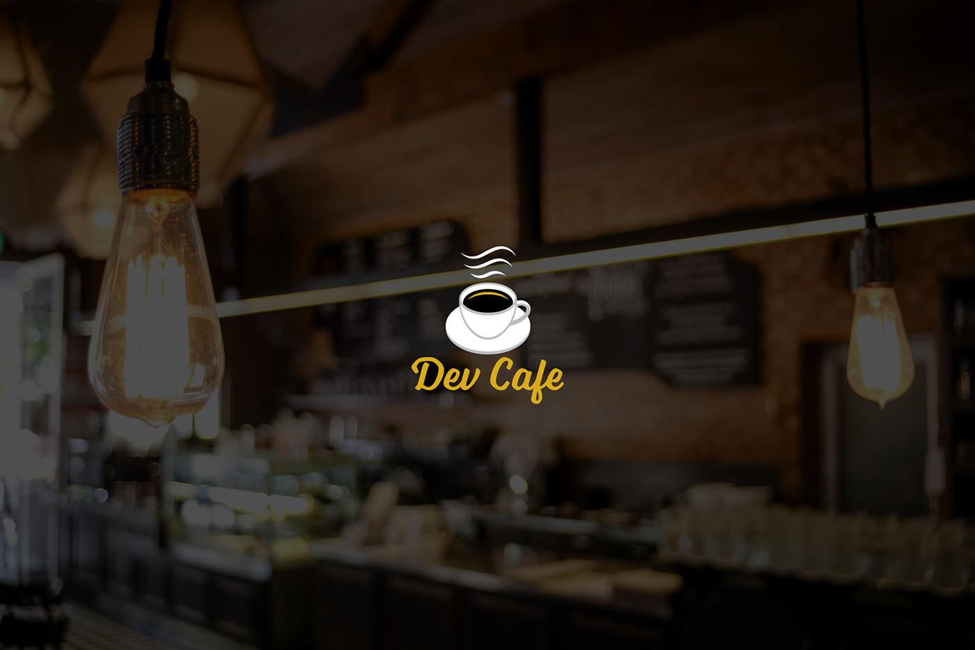 cafe coffeehouse user interface web layout logo visual identity Coffee