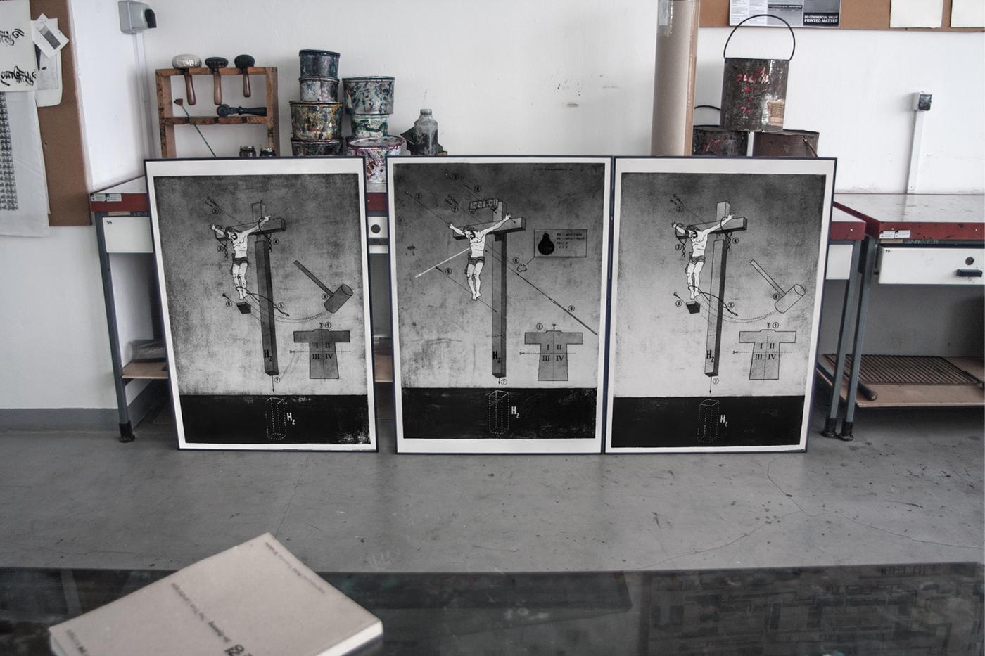 Machowski macha Untitled - to anyone not irritate graphics workshop intaglio