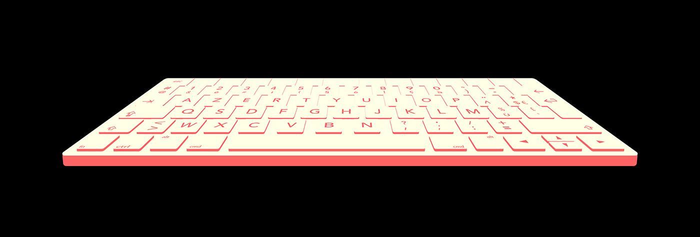 ILLUSTRATION  vinyl switch keyboard jieldé bouroullec papertrophy apple mac Nespresso