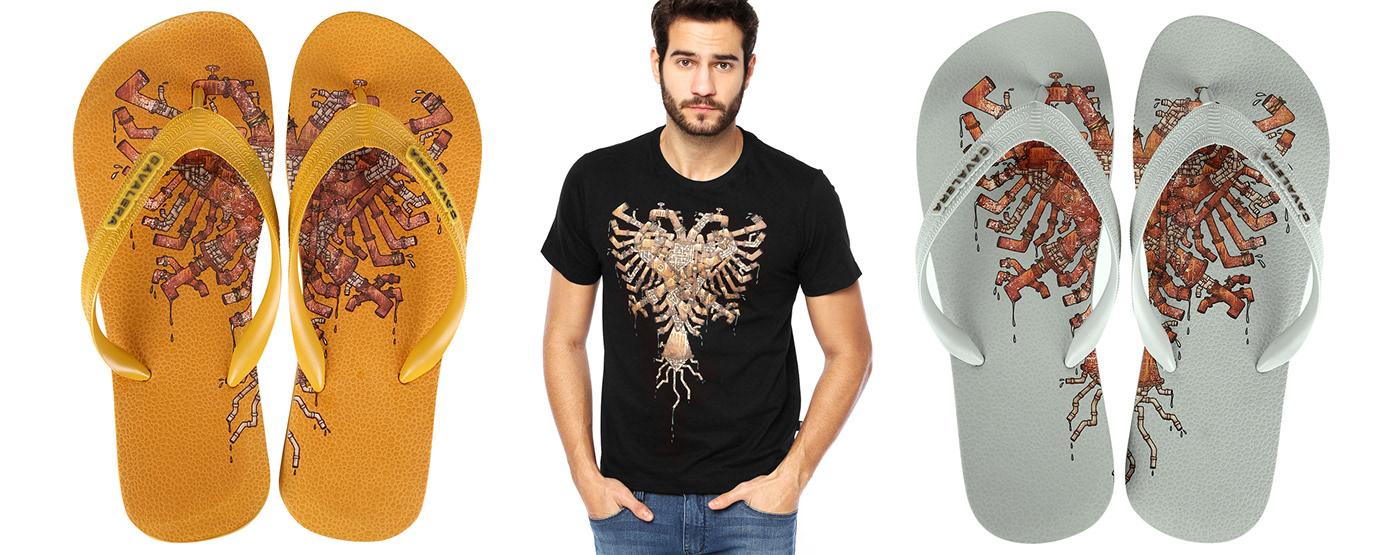 surface design ILLUSTRATION  print graphic tee Fashion  cavalera Estampa graphic design  t-shirt T-Shirt Design