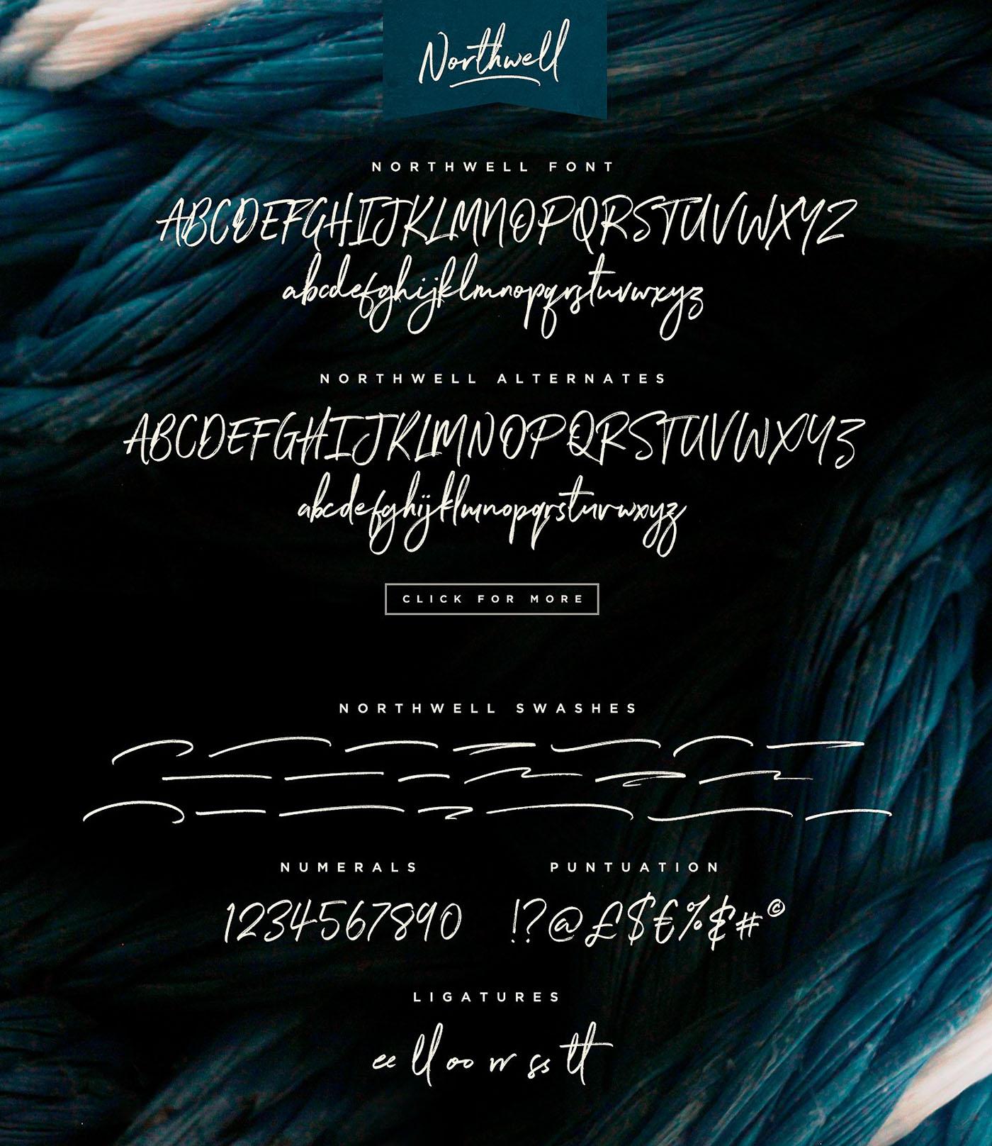 northwell font Northwell Handwritten Font on Behance