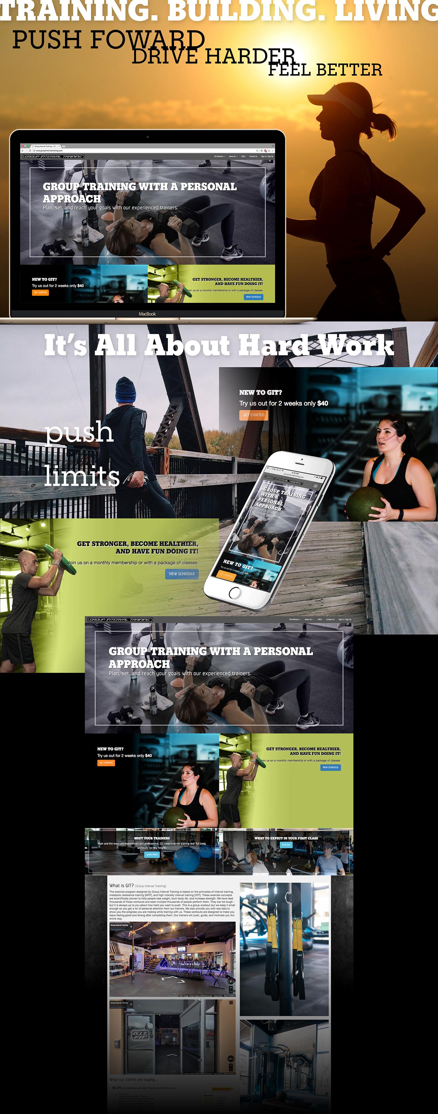 ux Web Design  fitness training art direction  graphic design