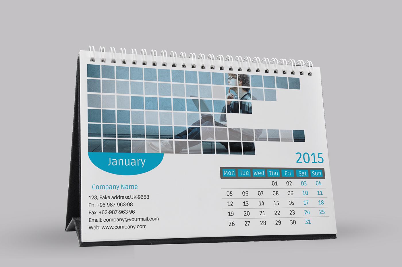 Calendar Design Template Psd : Corporate desk calendar template psd on behance