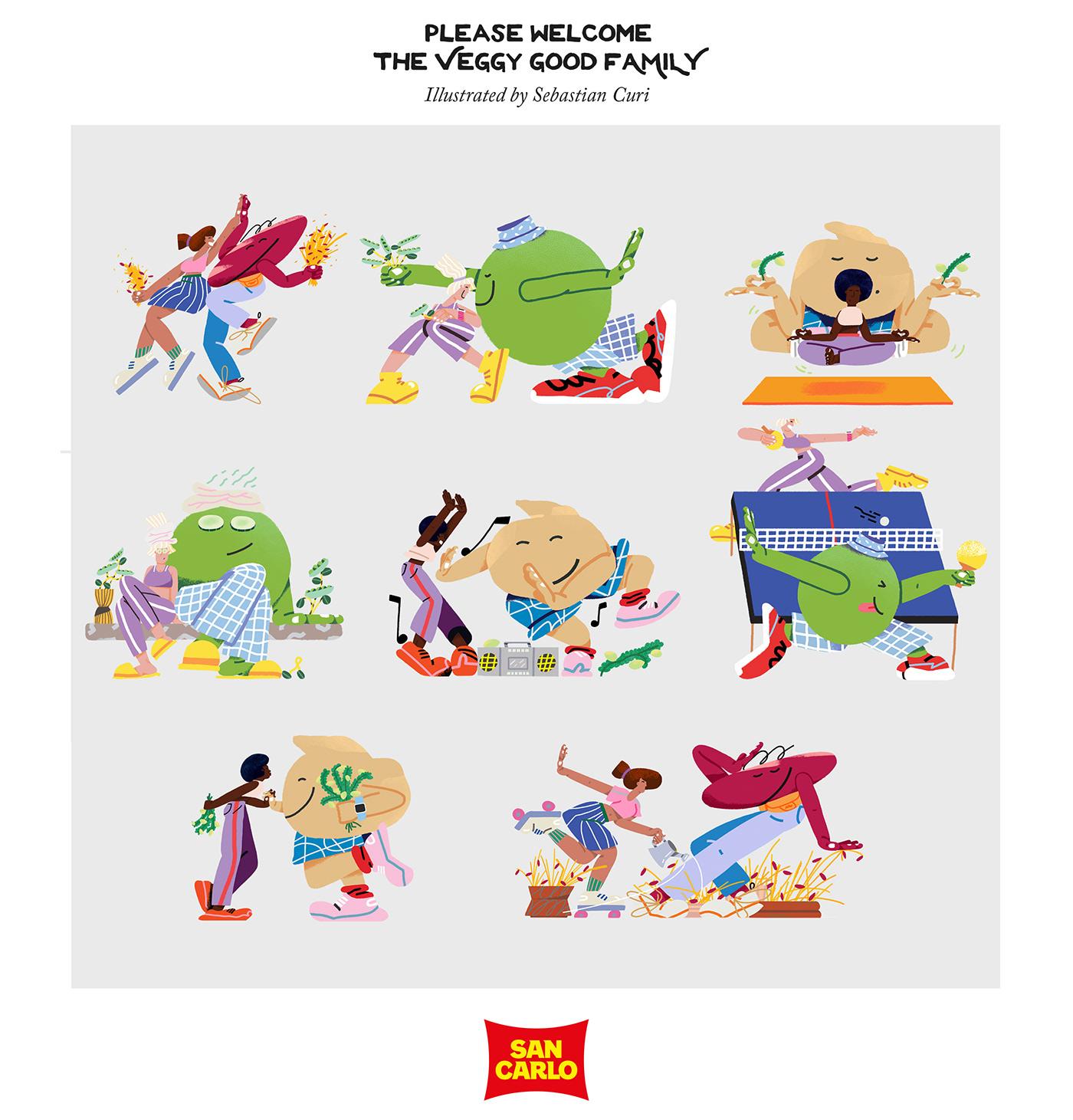 Advertising  chips design digital Food  healthy ILLUSTRATION  noruwei noruweistudio vegan