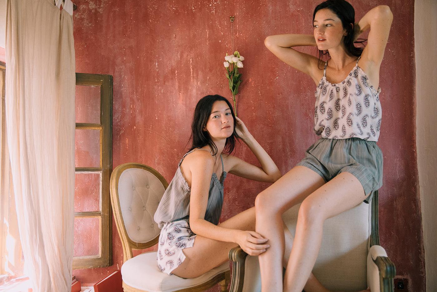 Fashion  Sisters duo women fashion Twins cote d'azur france campaign