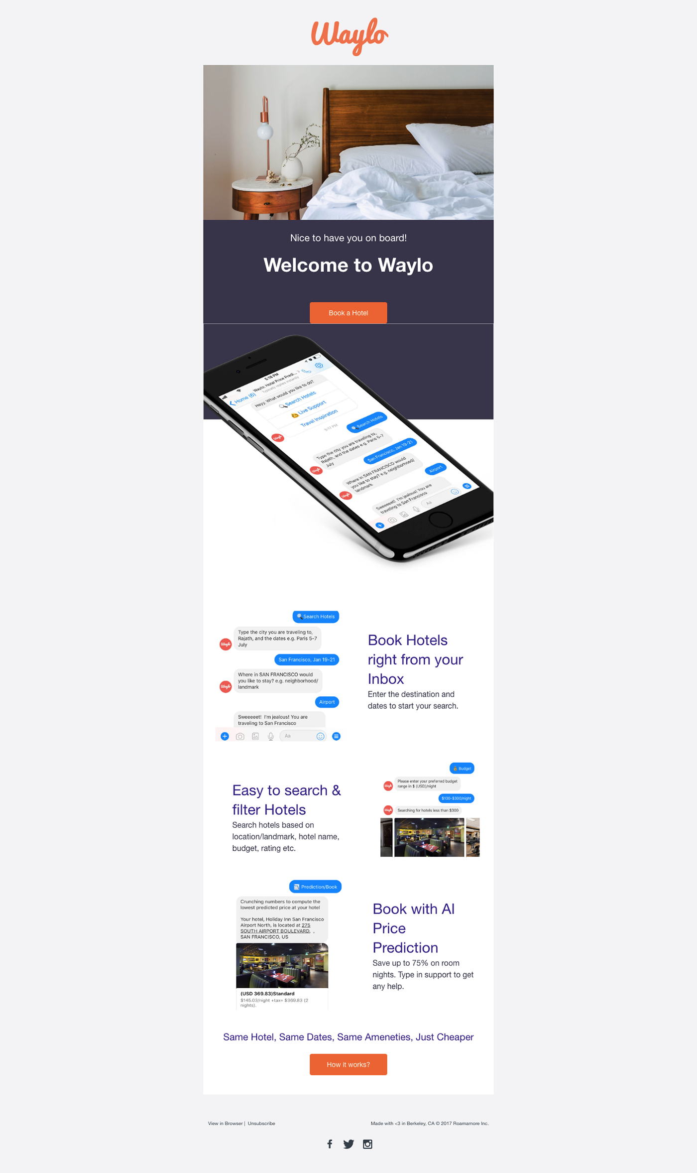 Chatbot,Email,welcome email,Free Template,Codepen,BooK Hotels