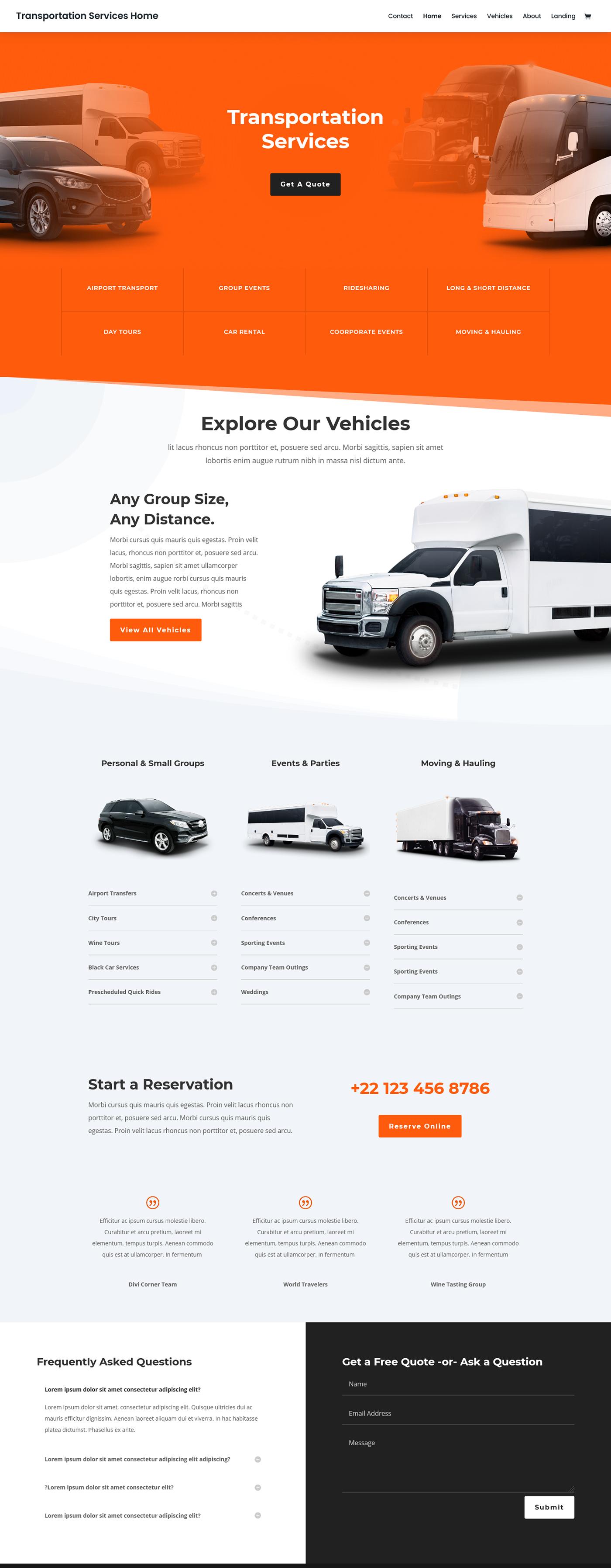 Business Website corporate website services website Transport landing page transport service transport service web transport website web development  Website Design zaman ador