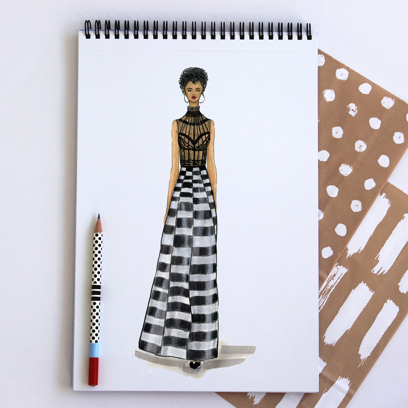 Looks - Sketches dresses dior video
