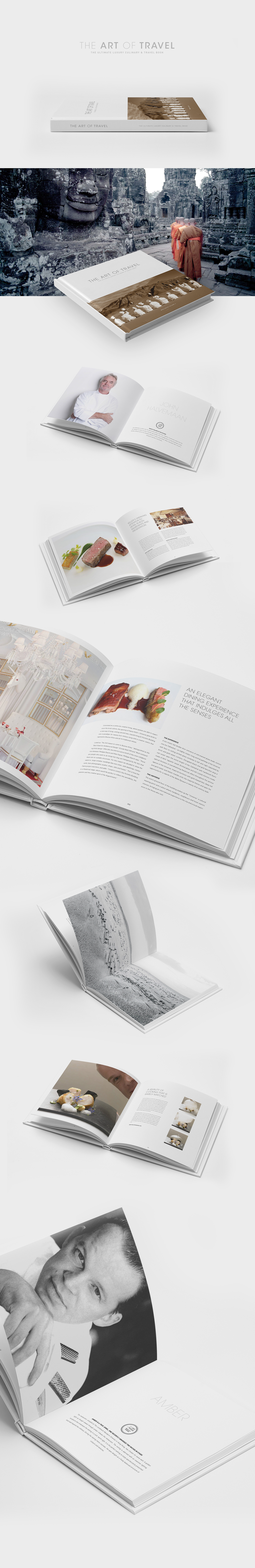 book art Travel Food  Culinary luxury graphic