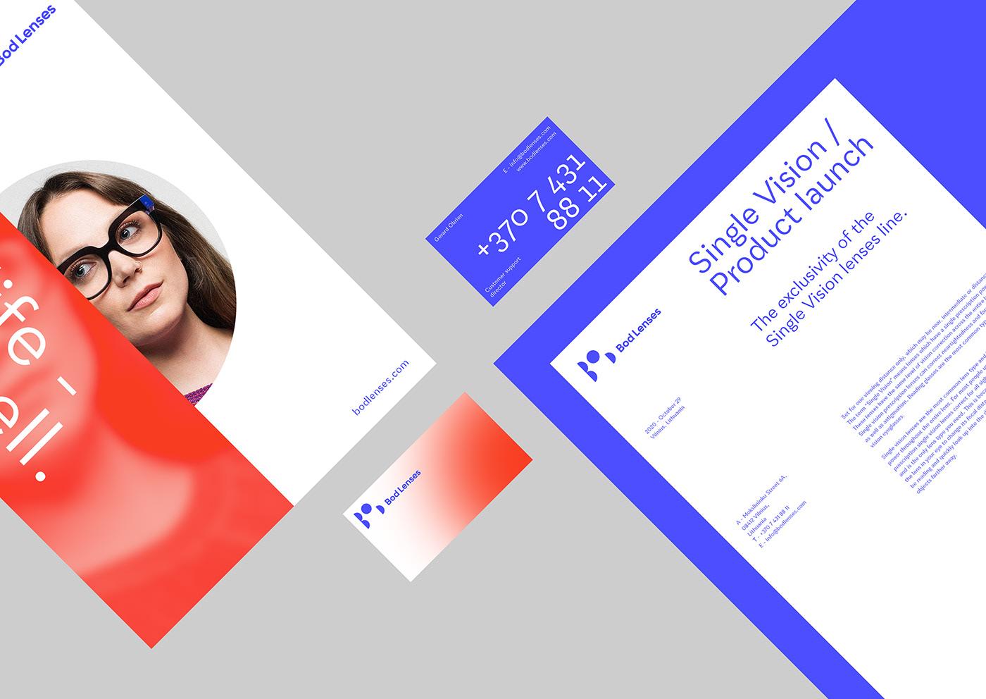 branding ,art direction ,logo,bod lenses,red and blue,modular,typography  ,lenses,blur