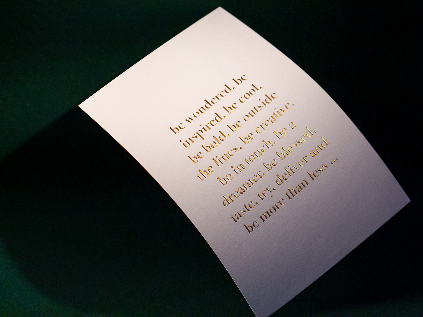 Corporate Identity cotton paper emboss gmund greeting card hotfoil less is more mailing new year Quotes