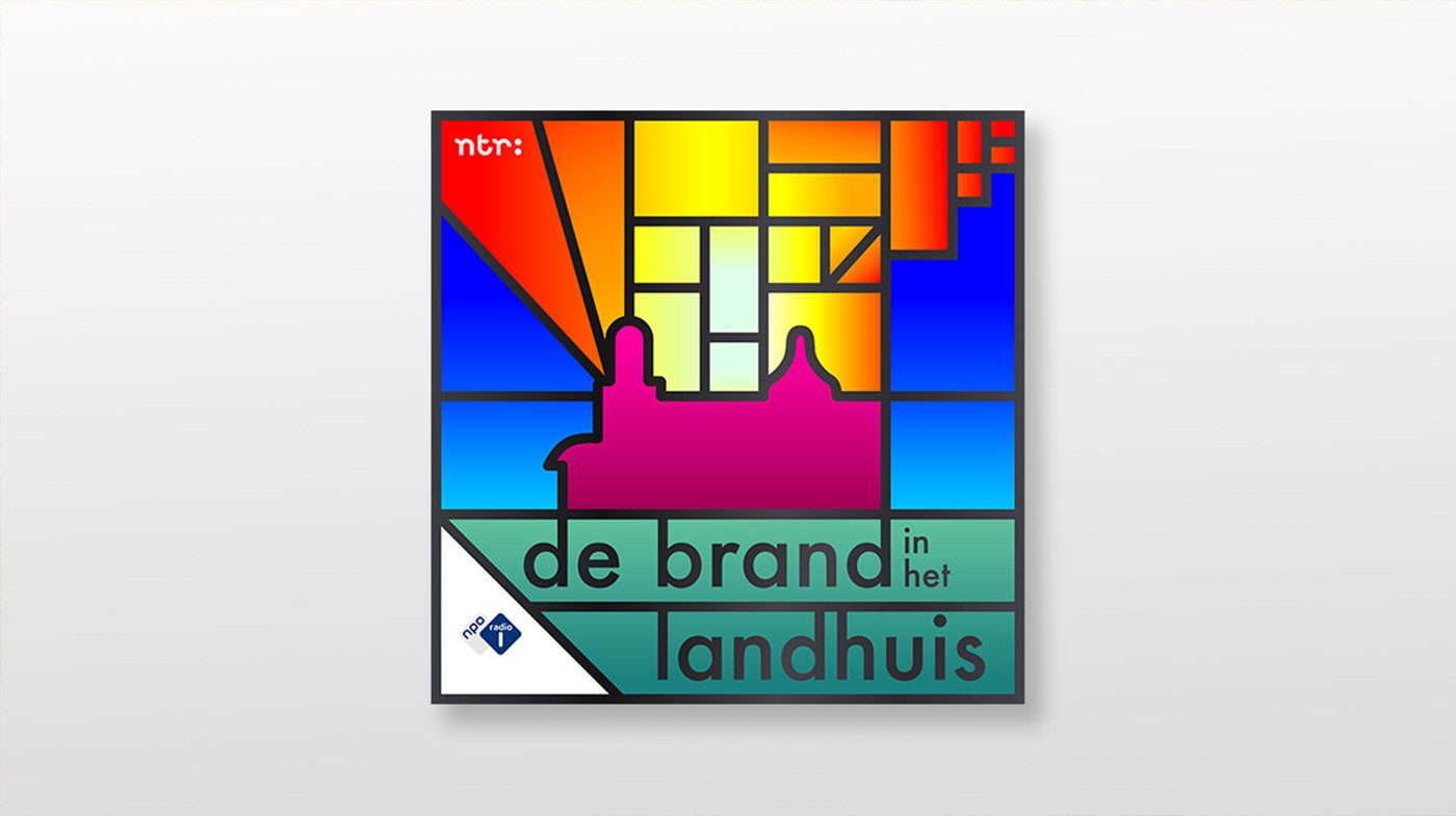 podcast artwork ILLUSTRATION  colors Radio broadcasting dutch graphic design  stained glass The Netherlands