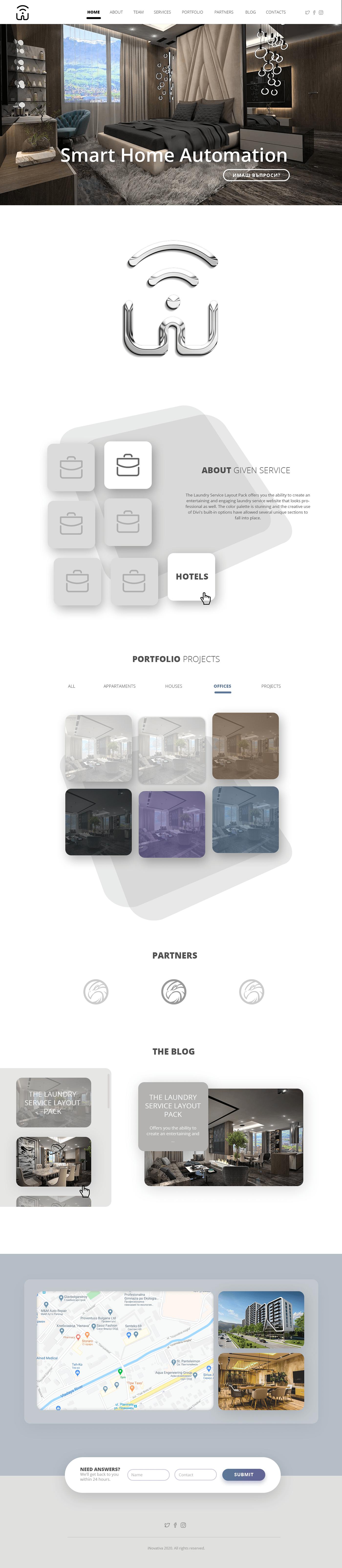 company Custom design Home Automation Website wordpress