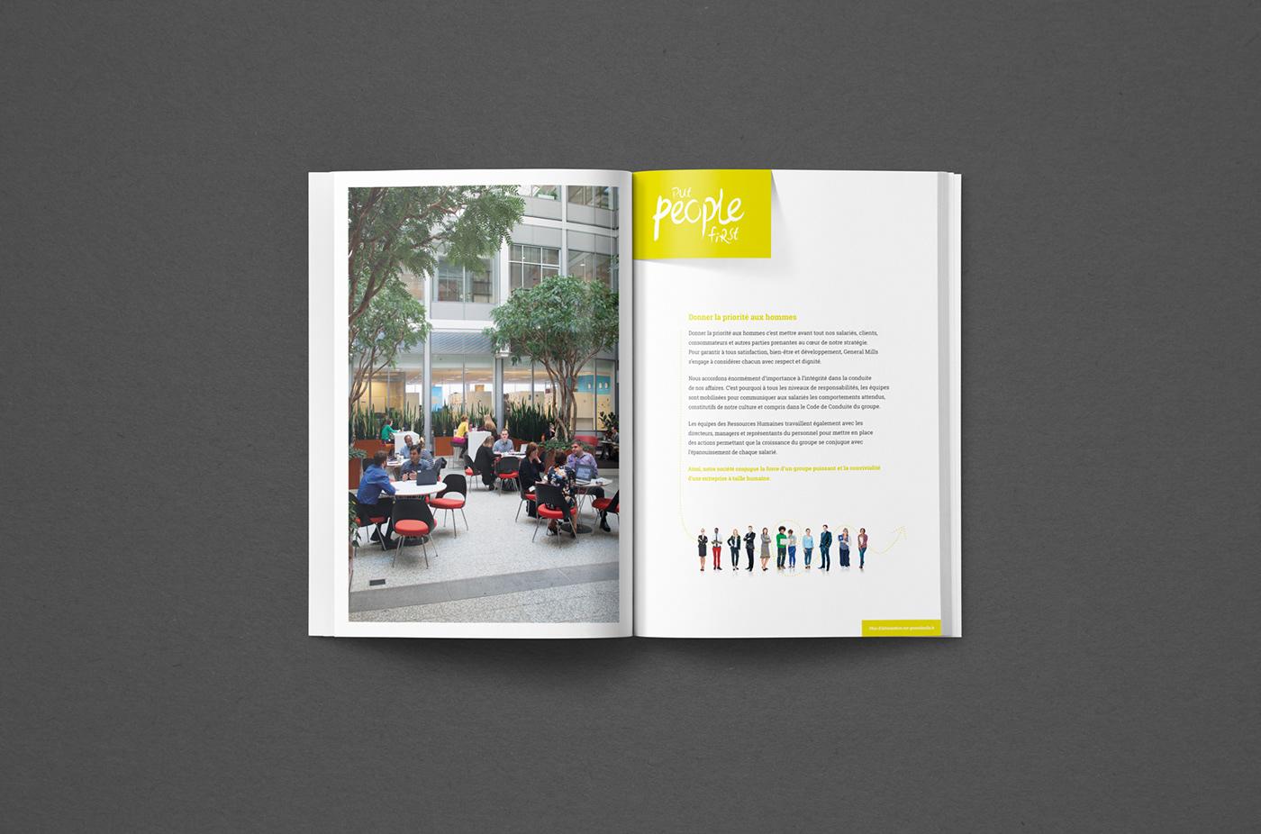 Alimentation Food  corporate brochure yoplait old el paso haagen dazs plaquette