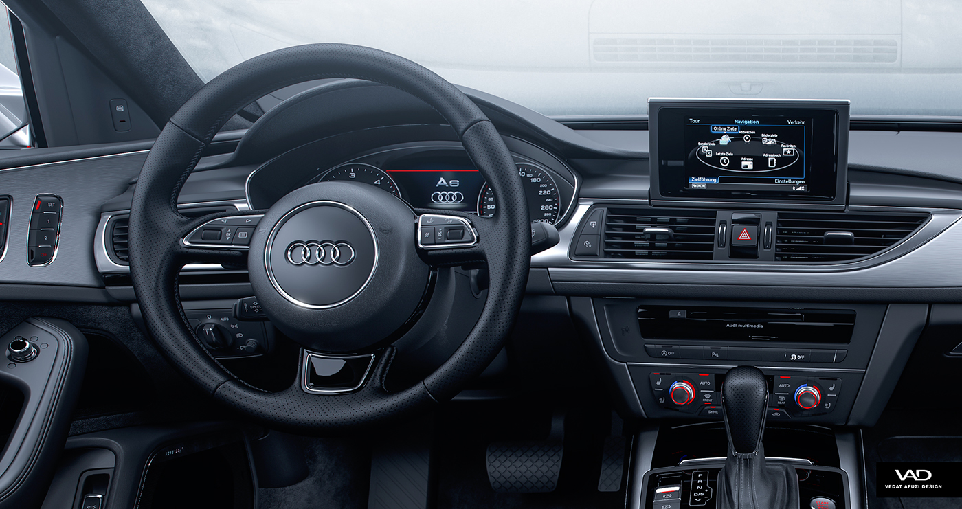 Audi A Interior Full CGI On Behance - Audi a6 interior