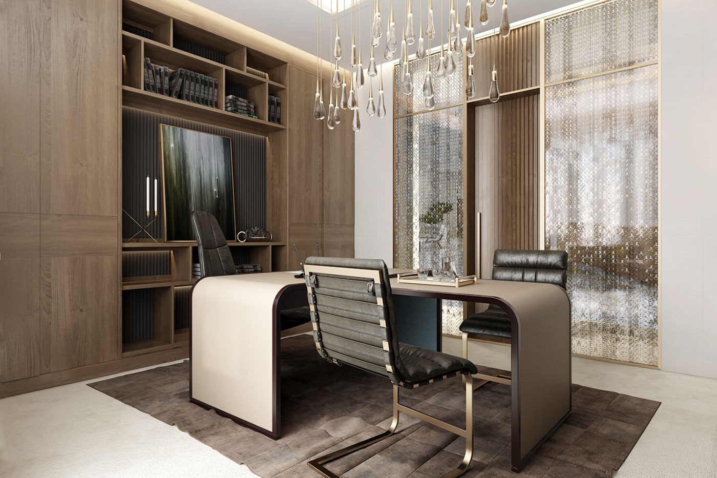 Ceo office design architectural rendering by archicgi on for Office design zen