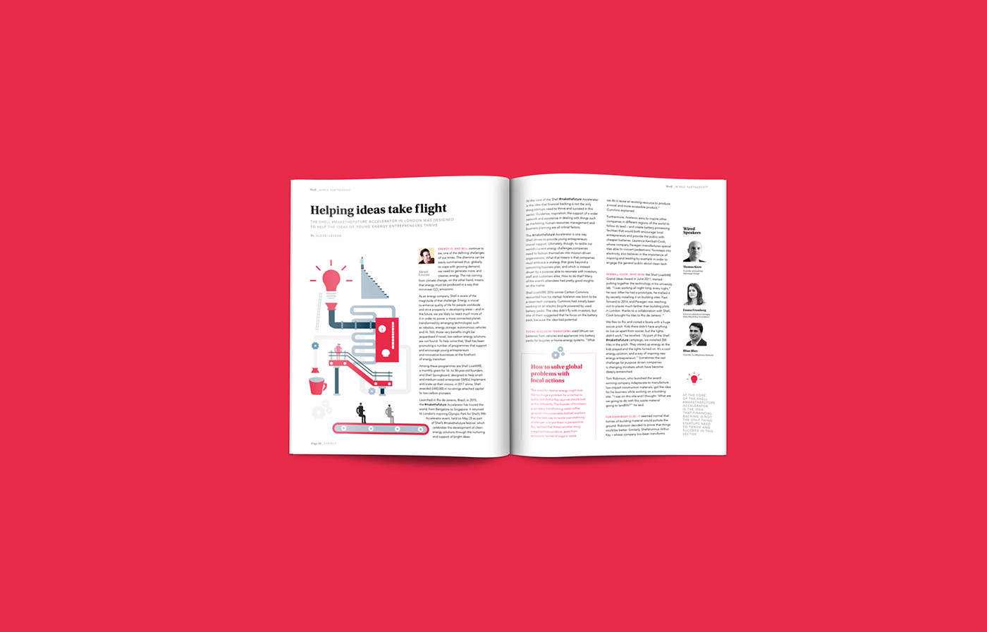 advertorial redesign editorial article magazine energy