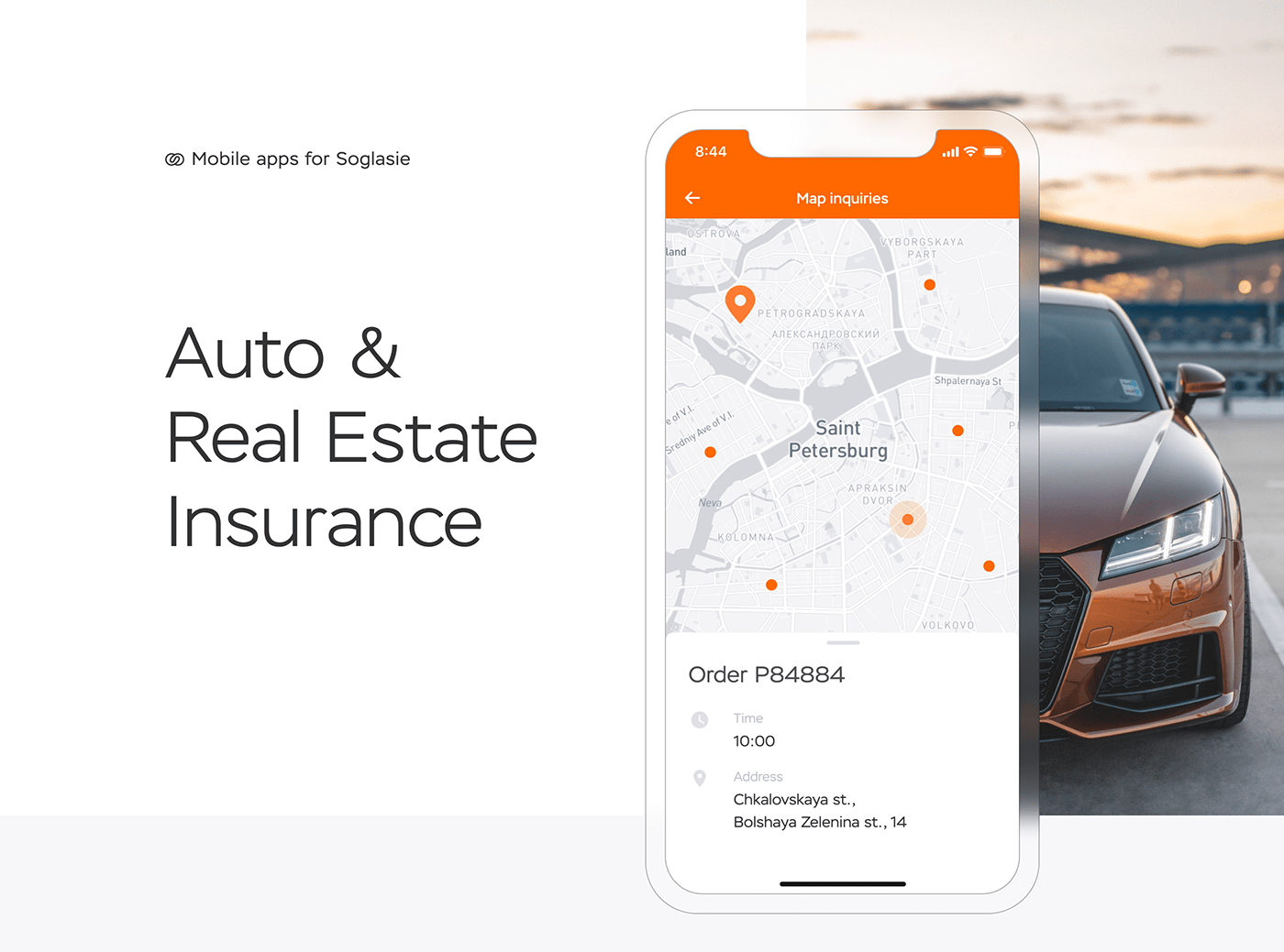 app car design insurance interfaces mobile realestate UI ux