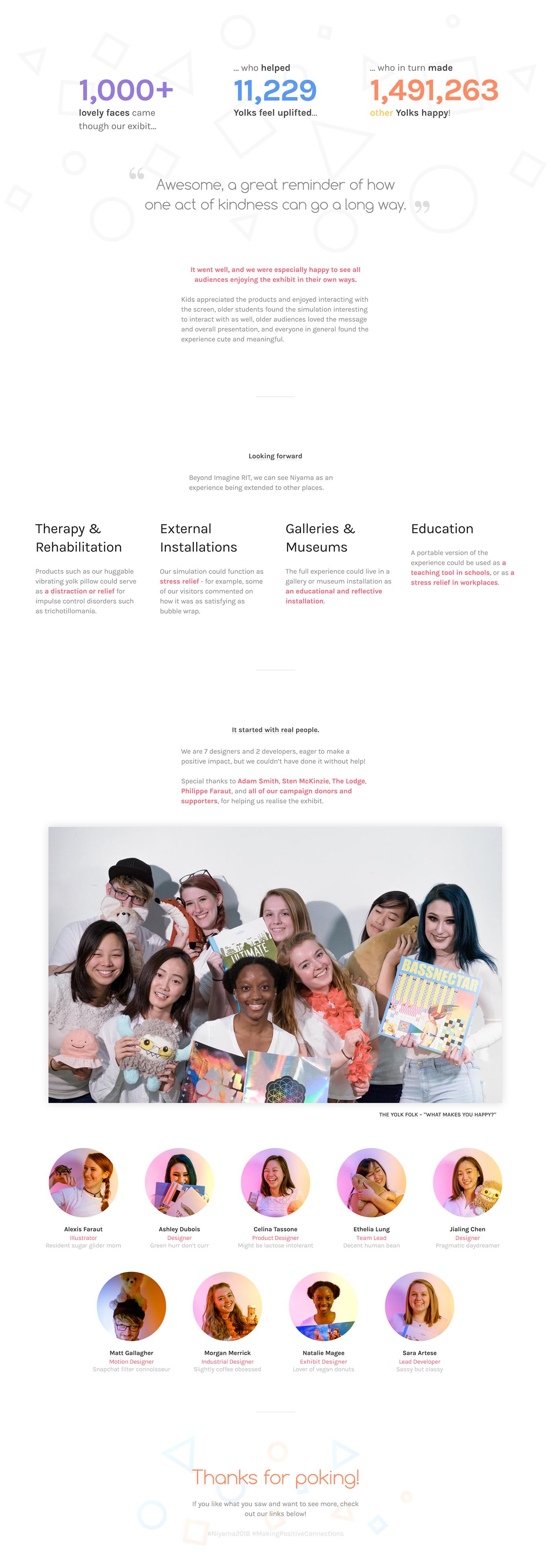 Capstone new media team project positivity social impact adobeawards do good