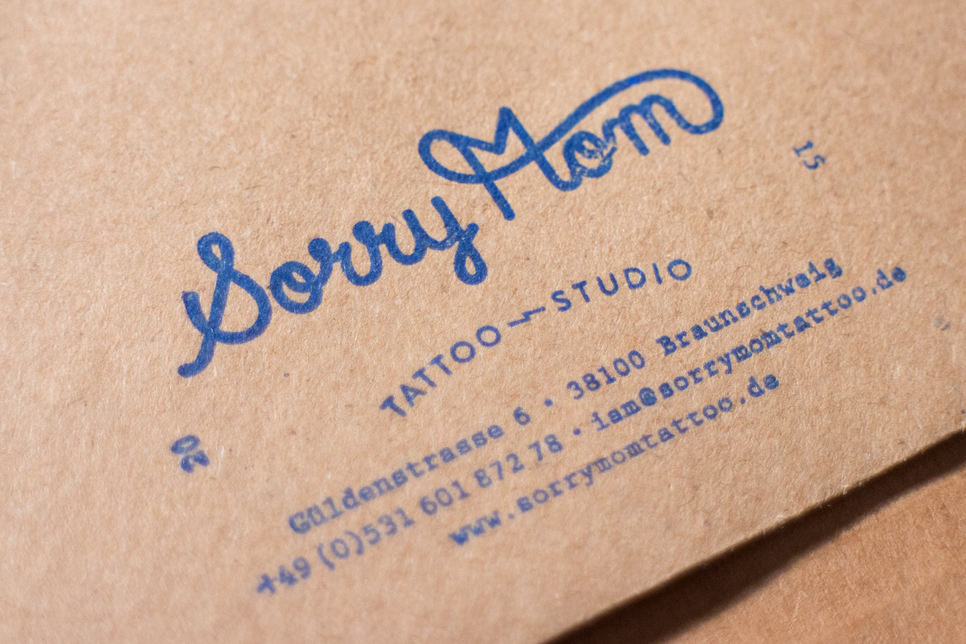 branding  tattoo stationary apparel wearebuerobuero sorrymomtattoo letterpress WABB ILLUSTRATION  Kumamotoplum