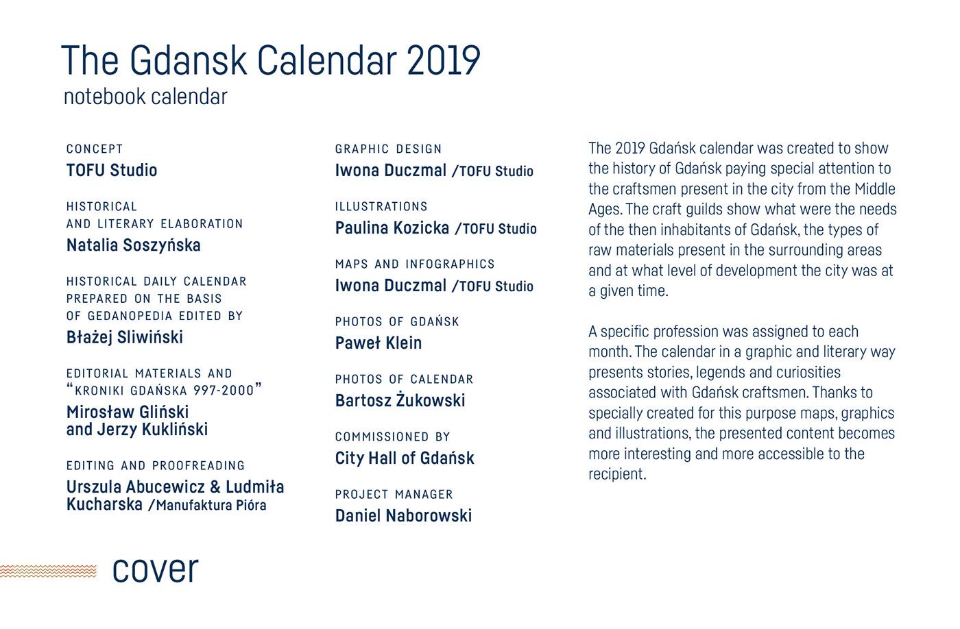 The Gdansk Calendar 2019 on Behance