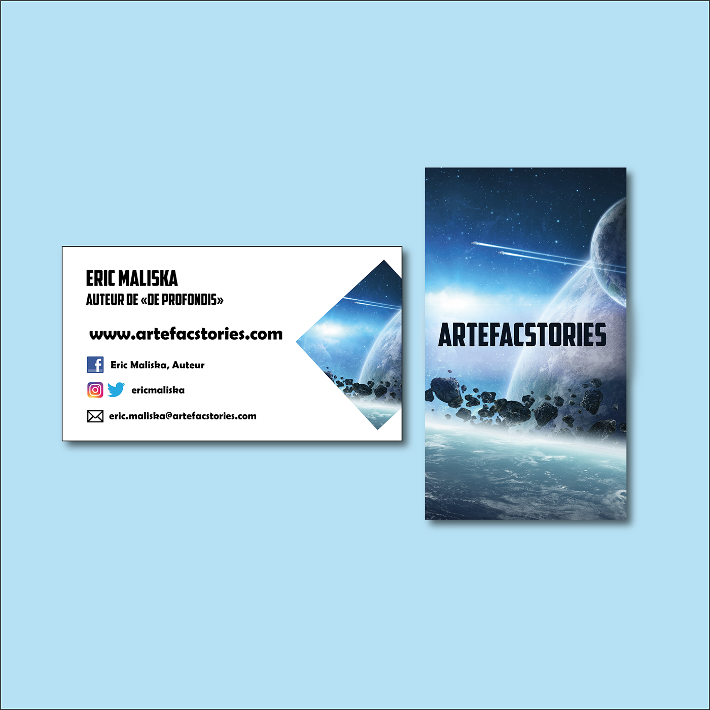 Carte De Visite Artefacstories On Behance